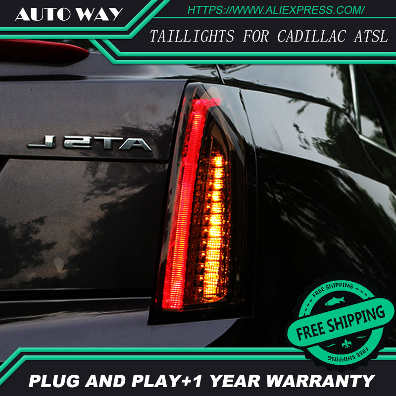 Car Styling tail lights for Cadillac ATSL ATS 2014-2017 taillights LED Tail Lamp rear trunk lamp cover drl+signal+brake+reverse car styling tail lights for hyundai santa fe 2007 2013 taillights led tail lamp rear trunk lamp cover drl signal brake reverse