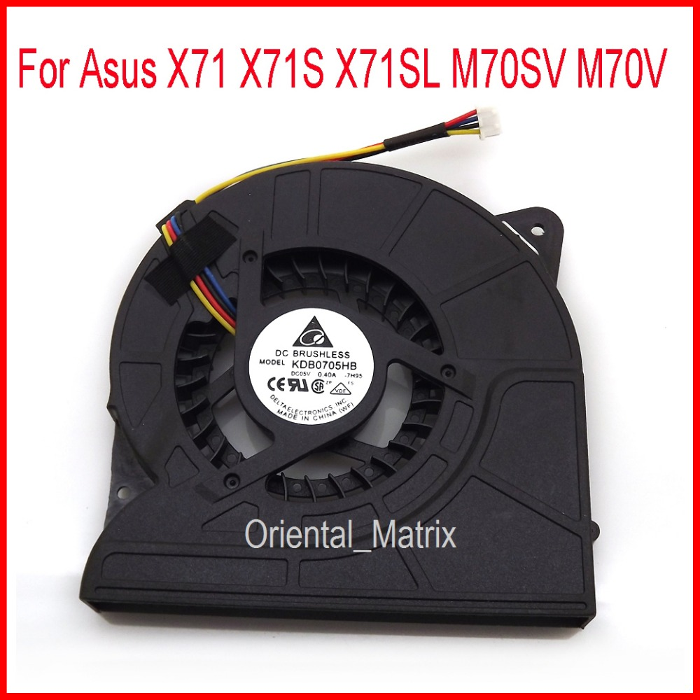 Free Shipping New KDB0705HB 7H95 DC5V 0.4A 4Pin For Asus M70SV M70V X71 X71S X71SL Laptop CPU Cooler Cooling Fan hotpoint ariston hb 0705 ac0