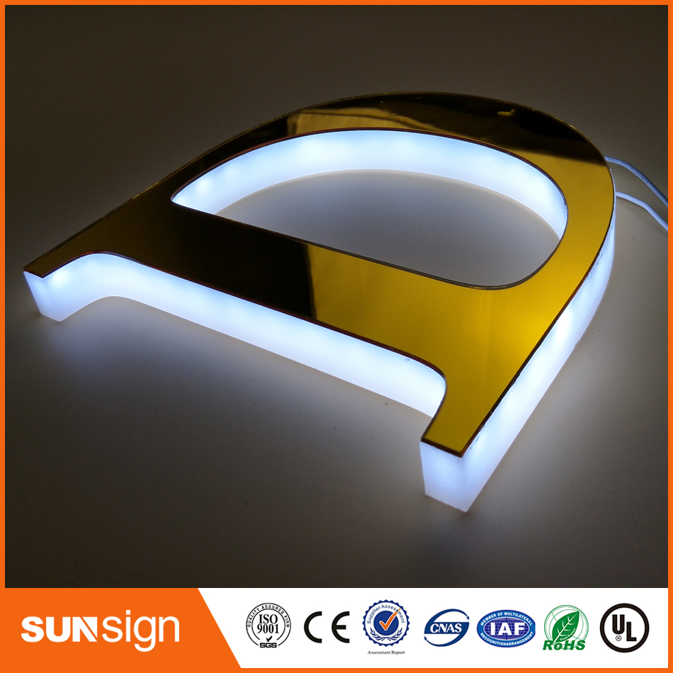 Business sign letters outdoor illuminated led signs