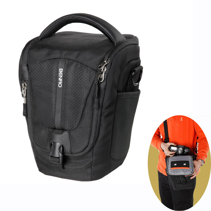 Benro Cwz20 Messenger Slr Camera Bag Professional Nylon Waterproof Dslr Case For Canon Nikon In Video Bags From Consumer
