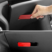 Yimaautotrims Glove Box Handle Copilot Storage Clasp Hand Bowl Cover Trim Fit For Jeep Compass 2017 2018 2019 Interior Mouldings