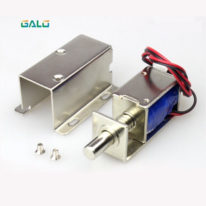 galo 3pcs 12V /24V Electronics Lock Assembly Solenoid Low Power Consumption conspicuous consumption