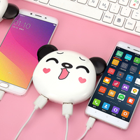 RHOADA New Arrival Cartoon Panda High Capacity10000mAh Portable Power Bank Universal External Battery Charger For IPhone
