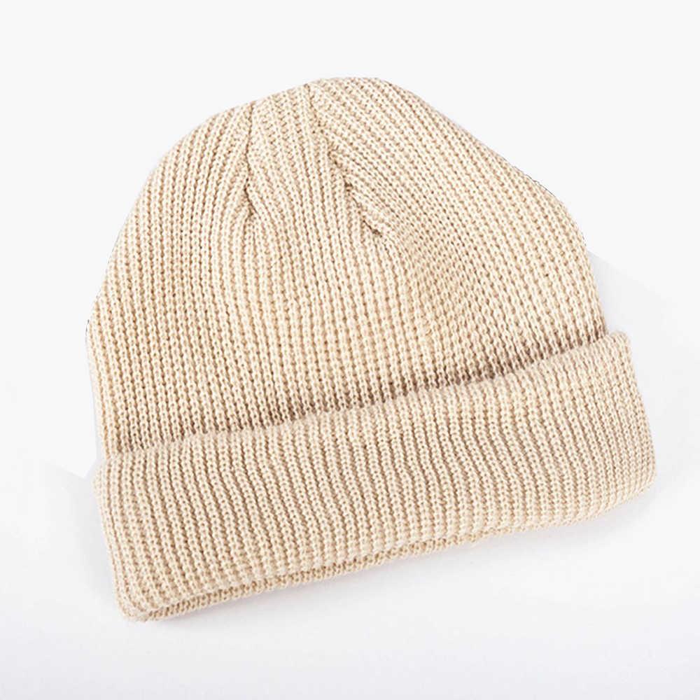 536a7d4e23e ... 1PC New Casual Women Men Knitted Skullcap Short wool Thread Hip Hop Hat  Beanie Skullcap Retro ...