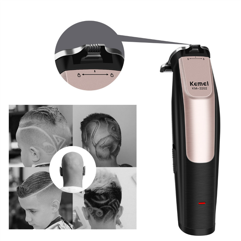 Image 5 - 100 240V Kemei Professional Hair Clipper Rechargeable Hair Trimmer Clipper Haircut Barber Styling Cutting Machine  USB ChargingHair Trimmers   -