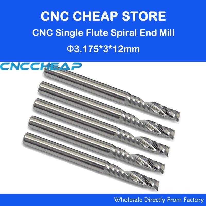 5Stk 6mm Hartmetall Single Flute Schaftfräser Fräser CNC Bit für Acryl PVC MDF ❤