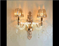 K9 кристалл Настенные светильники элегантный Европейский настенный светильник с Crystal абажурами настенные бра для дома гостиная Спальня Обе