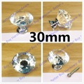 30mm/40mm Furniture K9 Crystal Drawer Pulls and Knobs for Ccabinet Kitchen Hardware