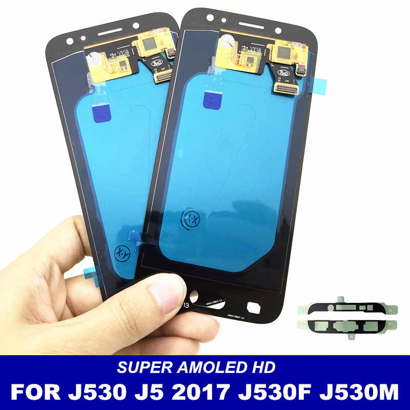 With Brightness Control AMOLED LCDs For Samsung Galaxy J5 2017 J530 J530F J530M LCD Well Display Touch Screen Digitizer Assembly