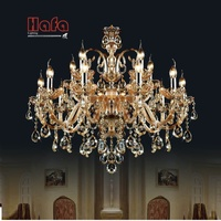 15 Arms Crystal Chandelier Light Luxury Modern Crystal Lamp Chandelier Lighting Champage Crystal Top K9