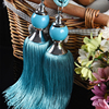 1Pair Europe Style Hot Sale Curtain Tassels Hang Ball Small Crystal Double Ball Rural Curtain Tieback