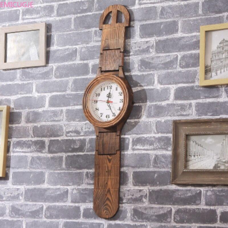 Retro Creative Watch Technology Wall Clocks Home Decoration Wall Clock Modern Design Pure Wood Environmental Protection