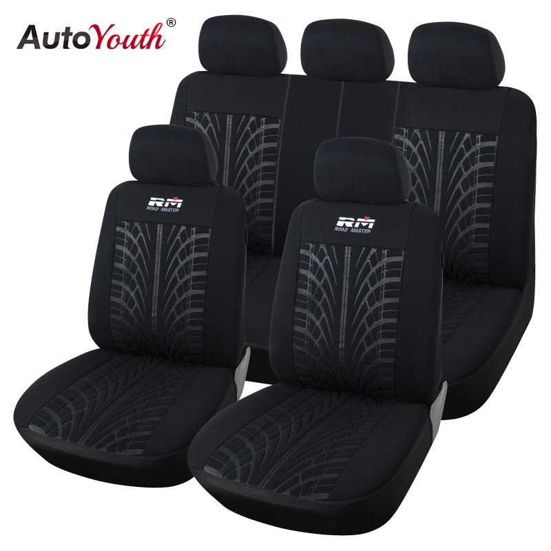 AUTOYOUTH Car Seat Cover Looped Fabric Universal Fit Most Vehicles Seats Covers Black Car Seat Protector