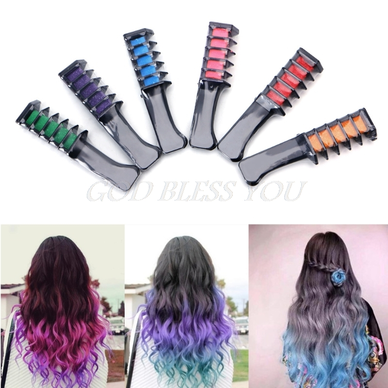 Temporary Hair Chalk Dye Powder With Comb Salon Hair Mascara Crayons Home DIY Blue/Green/Red/Purple/Hot Pink