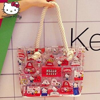 53faa4415 Hola Kitty bolsa bolsas de mano de moda hombro Diagonal bolso precioso  chicas de compras de la Escuela de viaje de peluche