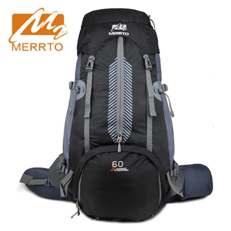 2018 Merrto Waterproof Outdoor Hiking Backpack Lightweight Camping Trekking Backpack Mountaineering Bags 50L Hiking Sports Bags