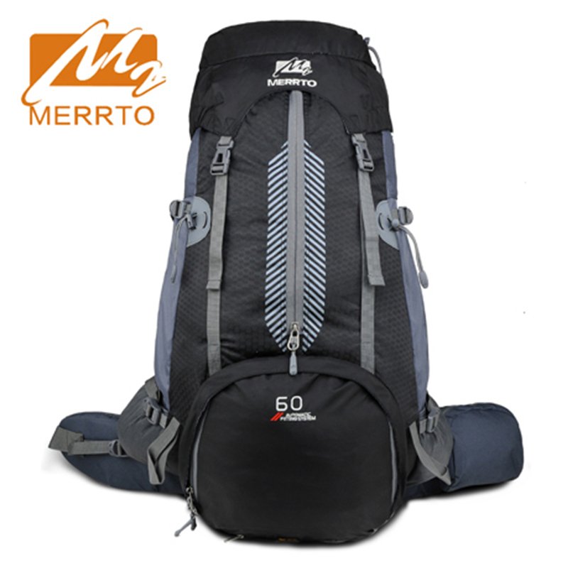 2018 Merrto Waterproof Outdoor Hiking Camping Trekking Backpack Light Weight Mountaineering Travel Bags 50L Hiking Bags wissblue professional climbing backpack camping outdoor backpack cr carrying system hiking gear trekking travel sport backpack