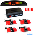 LED Display Car Vehicle Reverse Backup Radar System 4 Parking 16mm Sensors Drive 7 Colors choose , Free Shipping