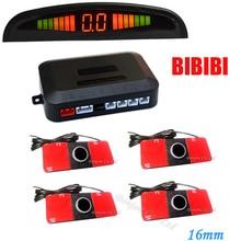 Pantalla LED Sistema de Radar de Reserva Reversa Del Vehículo Del Coche 4 Sensores de Aparcamiento 16mm Drive 7 Colores elegir, envío Gratis