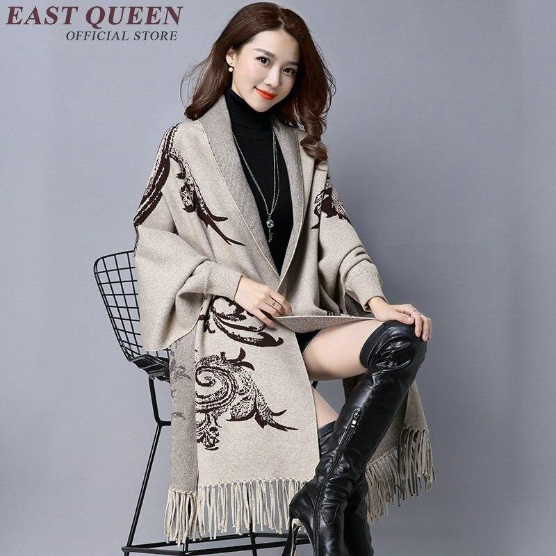 2017 winter sweater women elegant tassel oversized sweater dual shawl swing cloak cardigans sweater coat XXXL AA2759 YQ