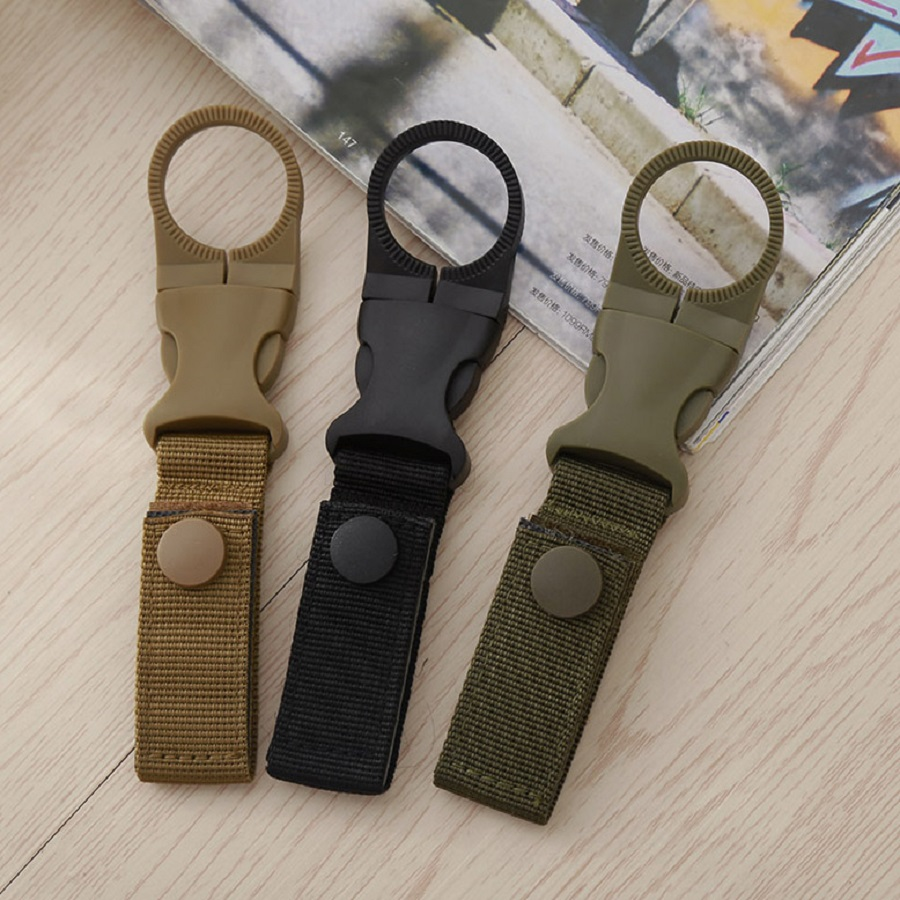 1PC Plastic EDC Clip Carabiner Snap Cycling Hiking Camping Water Bottle Holder Hook Convenient Water Bottle Clip  Key Chain water bottle