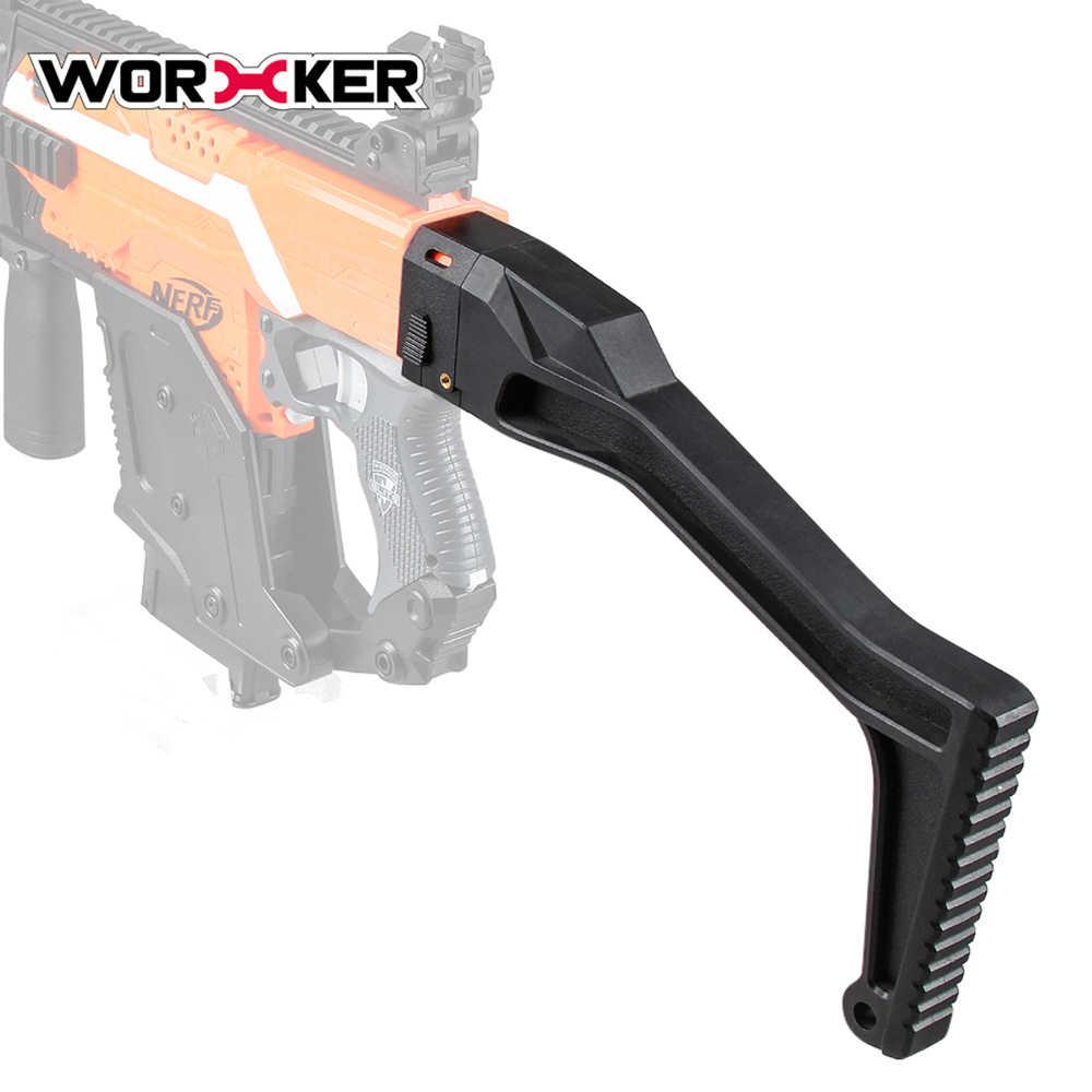 Originele Werknemer Zwart Spuitgietmatrijs Modificatie Schouder Voorraad Speelgoed voor Nerf N-Strike Elite Retaliator Blaster CS-18, CS-25