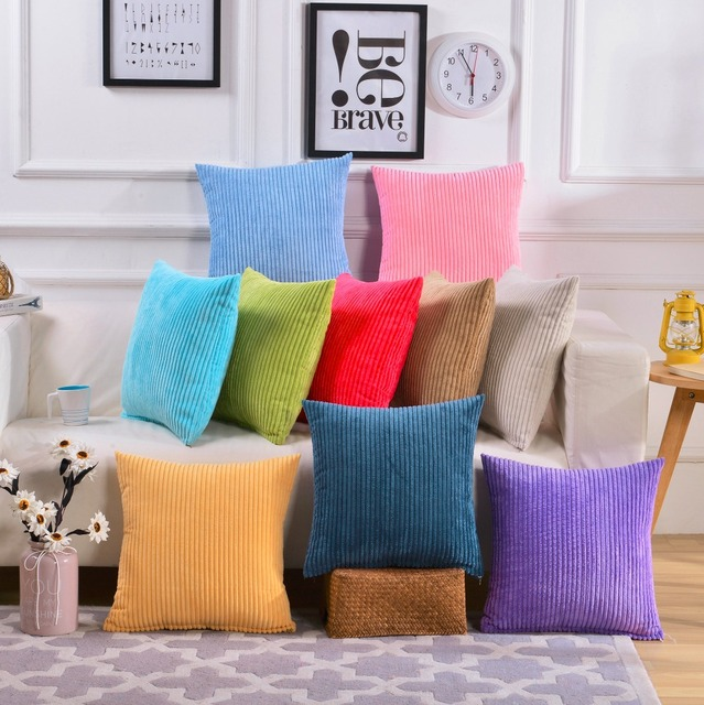 Decorative Pillows For Sofa Cushion Covers Pure Color Simple Car Stunning White Decorative Pillows For Couch