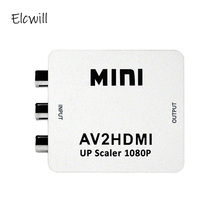 Mini AV to HDMI Video Converter Box AV2HDMI RCA AV HDMI CVBS to HDMI Adapter for HDTV TV PS3 PS4 PC DVD Xbox Projector hdmi to av cvbs to mini hdmi adapter hd 720p 1080p av2hdmi video converter