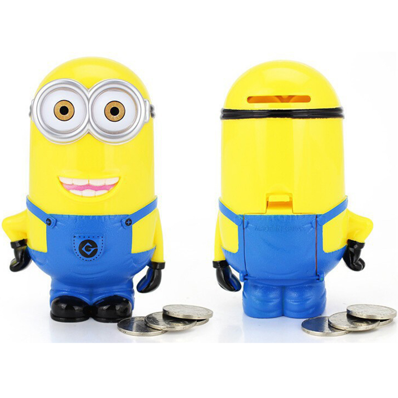 Minion Lovely 3D Minions Cartoon Figures Piggy Bank Money Box Hucha Saving Coin Cent Penny Children Toy Alcancia Baby Toy X