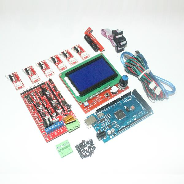 CNC 3D Printer Kit for Arduino Mega 2560 R3 + RAMPS 1.4 Controller Control + LCD 12864 + 6x Mechanical Limit Switch Endstop