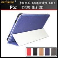 Caso para CHUWI Hi8 SE 8 pulgadas tablet pc de moda 3 veces Funda de cuero PU cubierta de caso para chuwi hi8 se + + pantalla