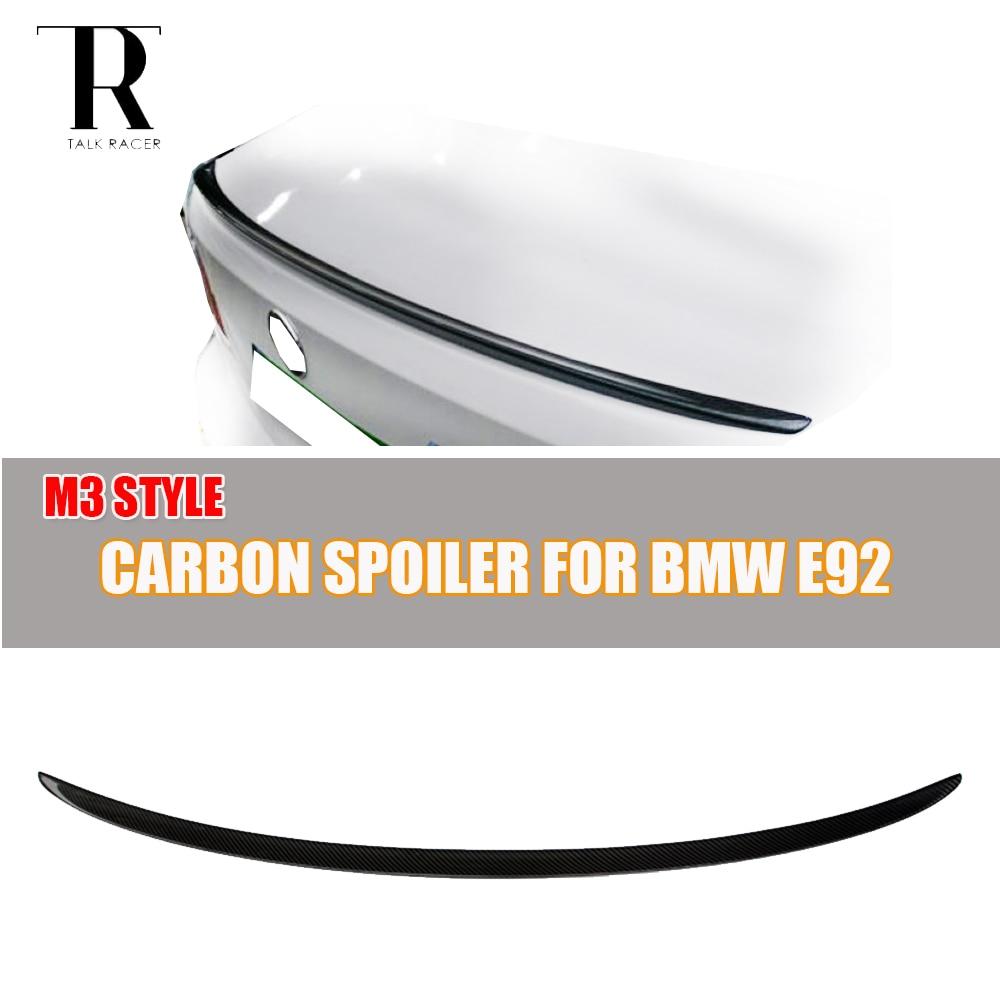 E92 M3 Carbon Fiber Rear Wing Spoiler for BMW E92 Coupe 320i 325i 328i 330i 335i 320d 325d 330d 335d M3 2 Door 2005 - 2011 подшипник задней подвески багажного отделения 2qty для bmw 325i 328i 328xi 330i 335d 335i