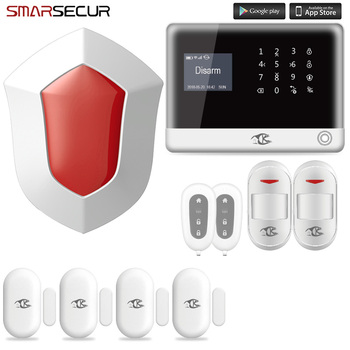 Smarsecur home security alarm WIFI GSM Wireless Home Alarm System APP Control yobang security wireless wifi gsm alarm system dual antenna alarm systems security home wireless signal support russian english