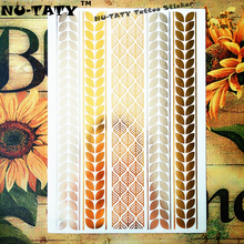 Nu-TATY 24 Style Temporary Tattoo Body Art, Leaf Chains Gold Designs, Flash Tattoo Sticker Keep 3-5 Days Waterproof 21x15cm