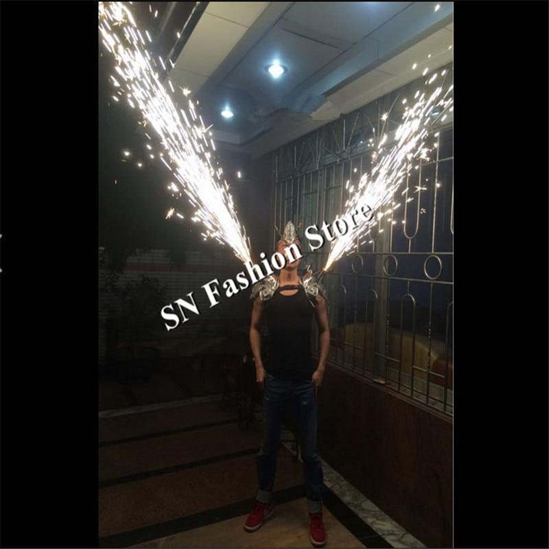 AS86 Barra de baile de plata hombro lleva cantante fiesta de fuegos - Para fiestas y celebraciones - foto 4