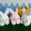 Conejo encantador de la Felpa Juguetes Lindo Blanco/rosa Conejo Muñeca Suave de la Felpa de Peluche Muñecas Juguetes para Niños Regalos de Cumpleaños
