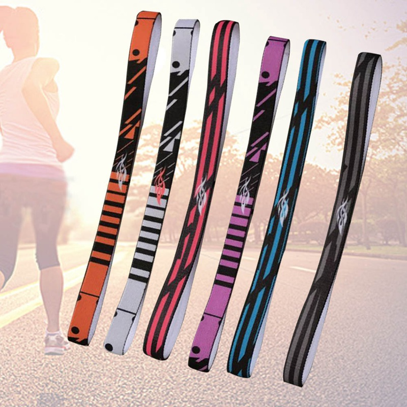 Stripe Absorbing Braided Anti-slip Hair Bands Sweatband Headband Elastic Running Sport Yoga Stretch Hair Gym Headwear Women Men yoga gym sport stretch headband womens anti sweat hairband cotton men women sweatband running outdoor fitness