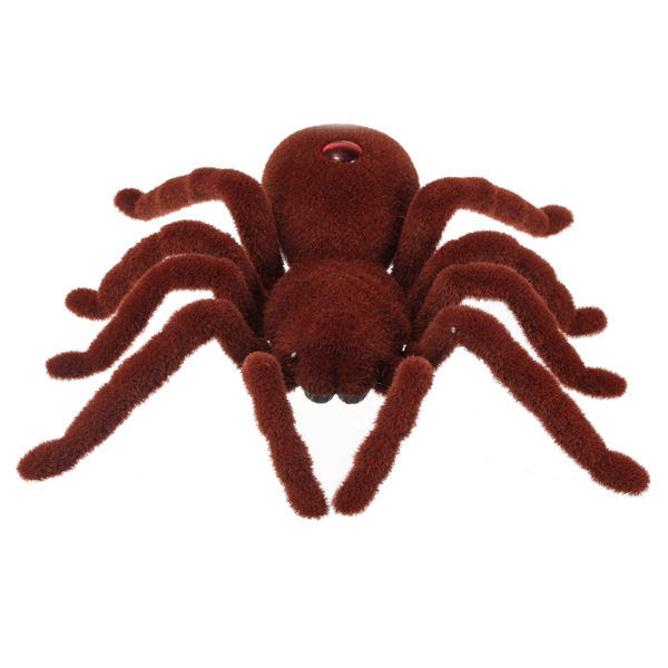 New Remote Control 11inch 2CH Infrared RC Tarantula Spider Prank Toy Kid Christmas Gift new infrared rc remote control centipede scolopendra creepy crawly toy gift