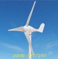 WWS ENERGY ветер Мощность генератор 200 Вт 12В или 24В включает в себя контроллер генератора в комплект входят 3 лезвия подходит для домашнего кораб