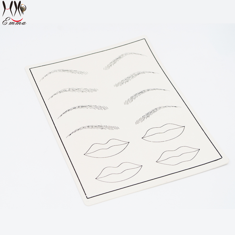 Vente en gros - 5pcs / lot Tattoo Eyebrow Lip Practice Skin Design - Tatouages et art corporel - Photo 6