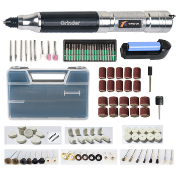 Tungfull Cordless Drill Portable Electric Drill Tool Grinder Wireless Charge Engraving Pen Milling Drilling Polishing Machine dutoofree mini electric drill accessories electric grinding set grinder tool for milling polishing drilling engraving hand drill