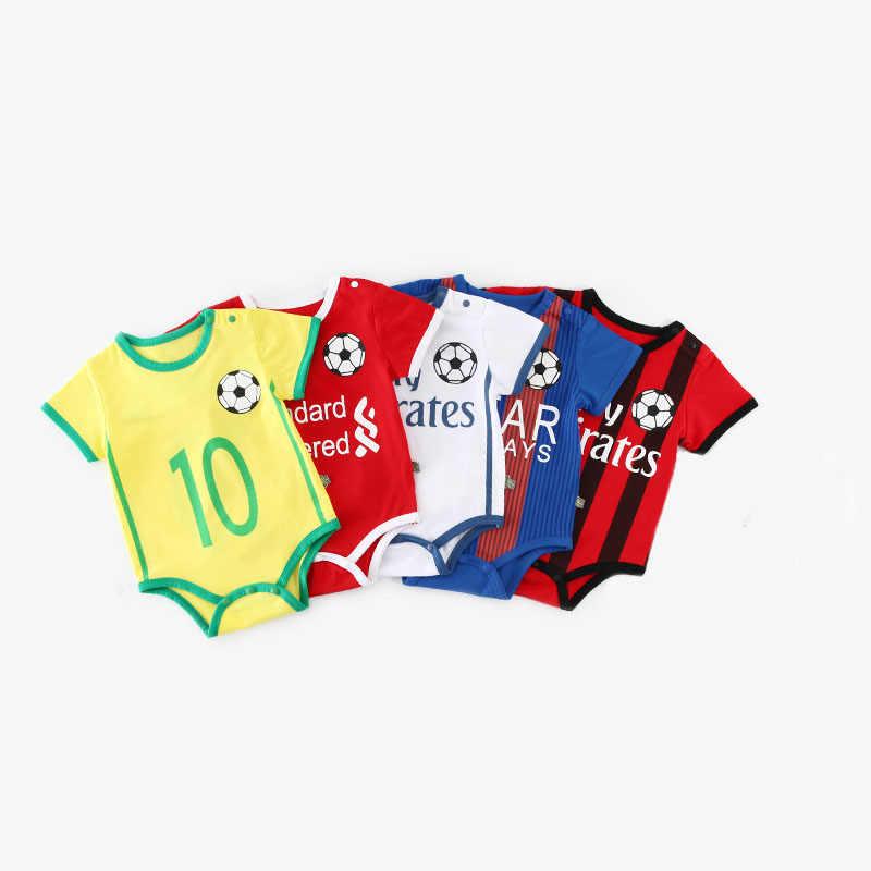 0a97a1c9dd43b Bebé Unisex traje de fútbol de manga corta niños Pantalones de deporte de  los niños mono