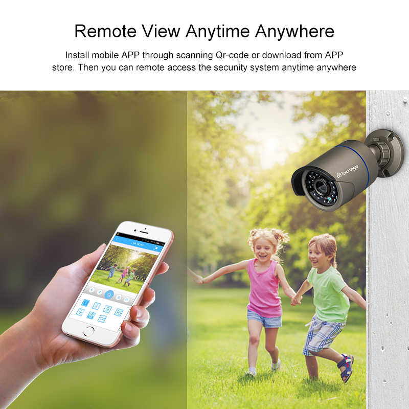 Techage H.265 8CH 1080P HDMI POE NVR комплект CCTV система безопасности 2MP ИК наружная аудио запись IP камера P2P комплект видеонаблюдения