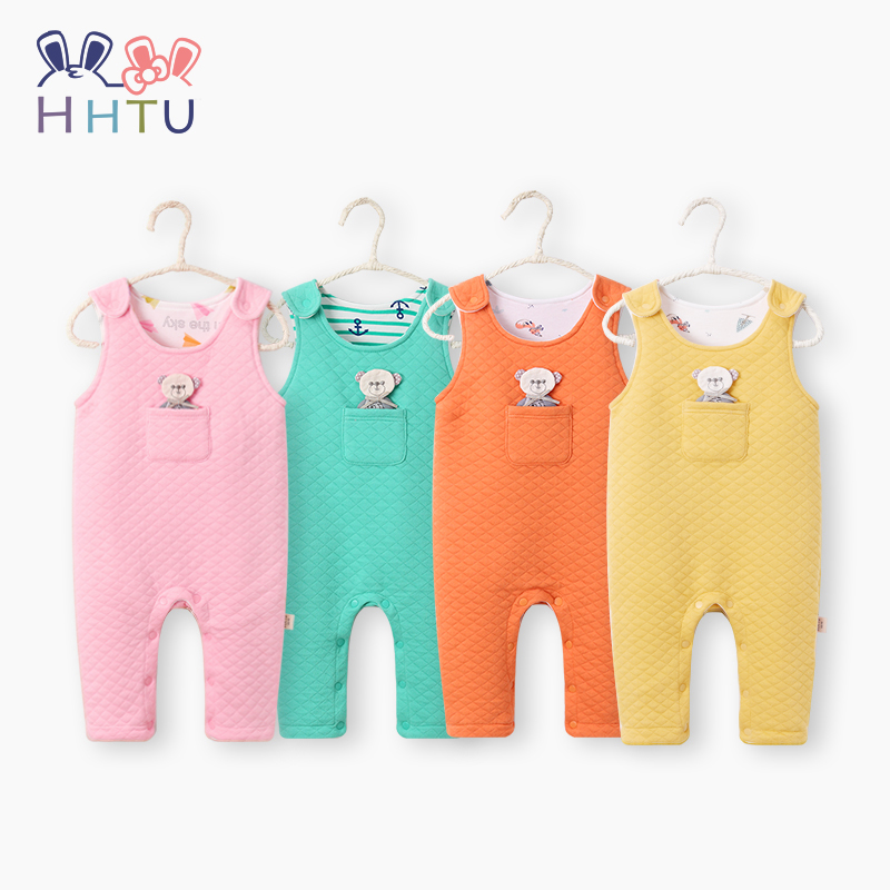 HHTU Newborn Baby Boys Girls Rompers Spring Autumn Infant Jumpsuit Sleeveless Cute Clothing Children Soft Cotton Clothes cotton baby rompers set newborn clothes baby clothing boys girls cartoon jumpsuits long sleeve overalls coveralls autumn winter