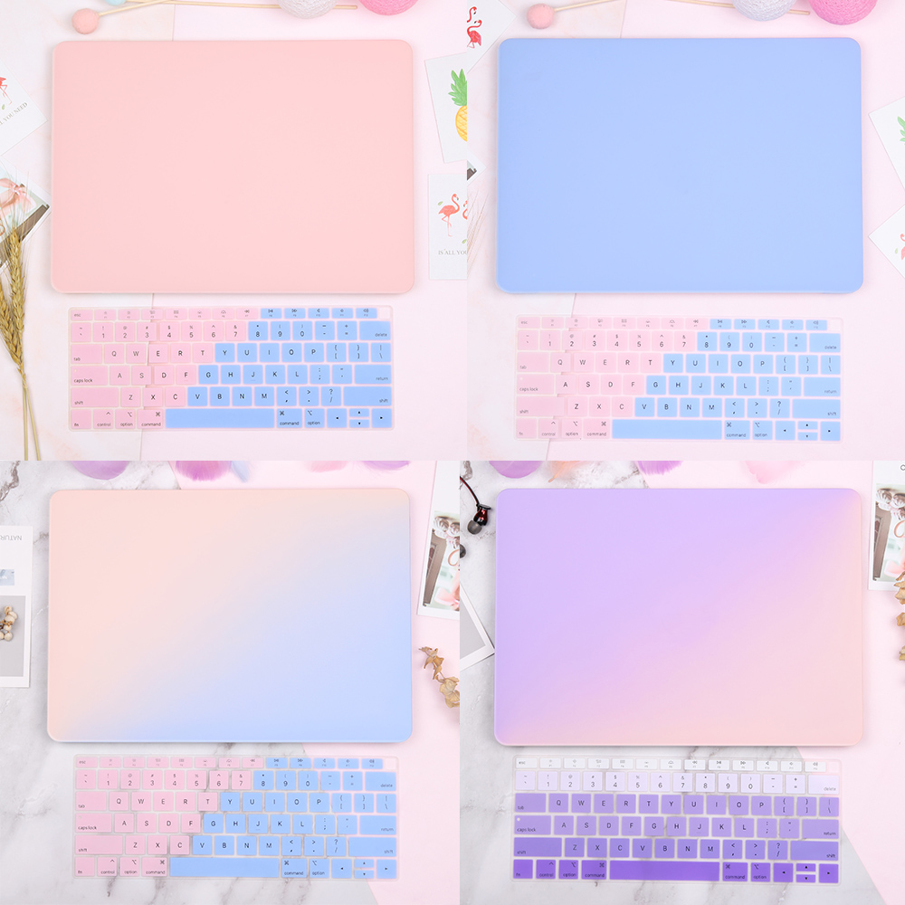 Redlai Matte New Arrival For Macbook Air 13 2018 A1932 Case Pro 13 15 Retina 12 Inch With Free Keyboard Cover Laptop Sleeve