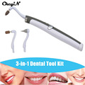 CkeyiN Hot Teeth Whitening Tooth Gel Whitener Bleach Stain Eraser Remove Instant Portable LED Dental Tool Kit Oral Hygiene Care