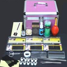 Professional Portable Eyelashes Extension Kit Beauty Grafting Eyelash with Box Case for Beauty Salon Makeup