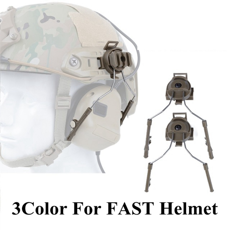Tactical Helmet Accessories Headset Holder Fast Helmet Rail Adapter Set Helmet Rail Suspension Bracket