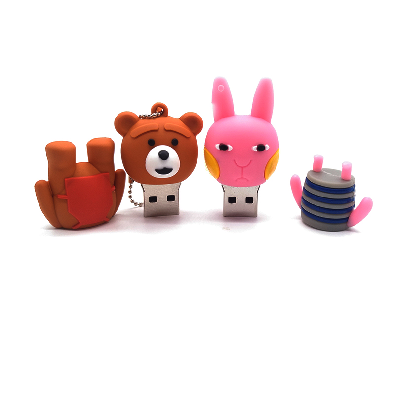 USB stick pendrive cartoon rabbit usb flash drive 4GB 8GB 16GB 32GB 64GB cute bear baby memory stick creative gift  pen drive