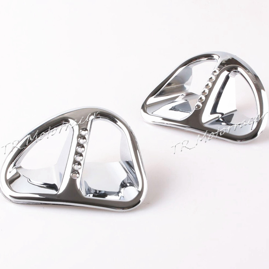 chrome radiator grills One Pair Goldwing Chrome Fairing Martini Air Intake Grills For Honda GL1800 2001 -2011 Motorcycle Accessories Stylish